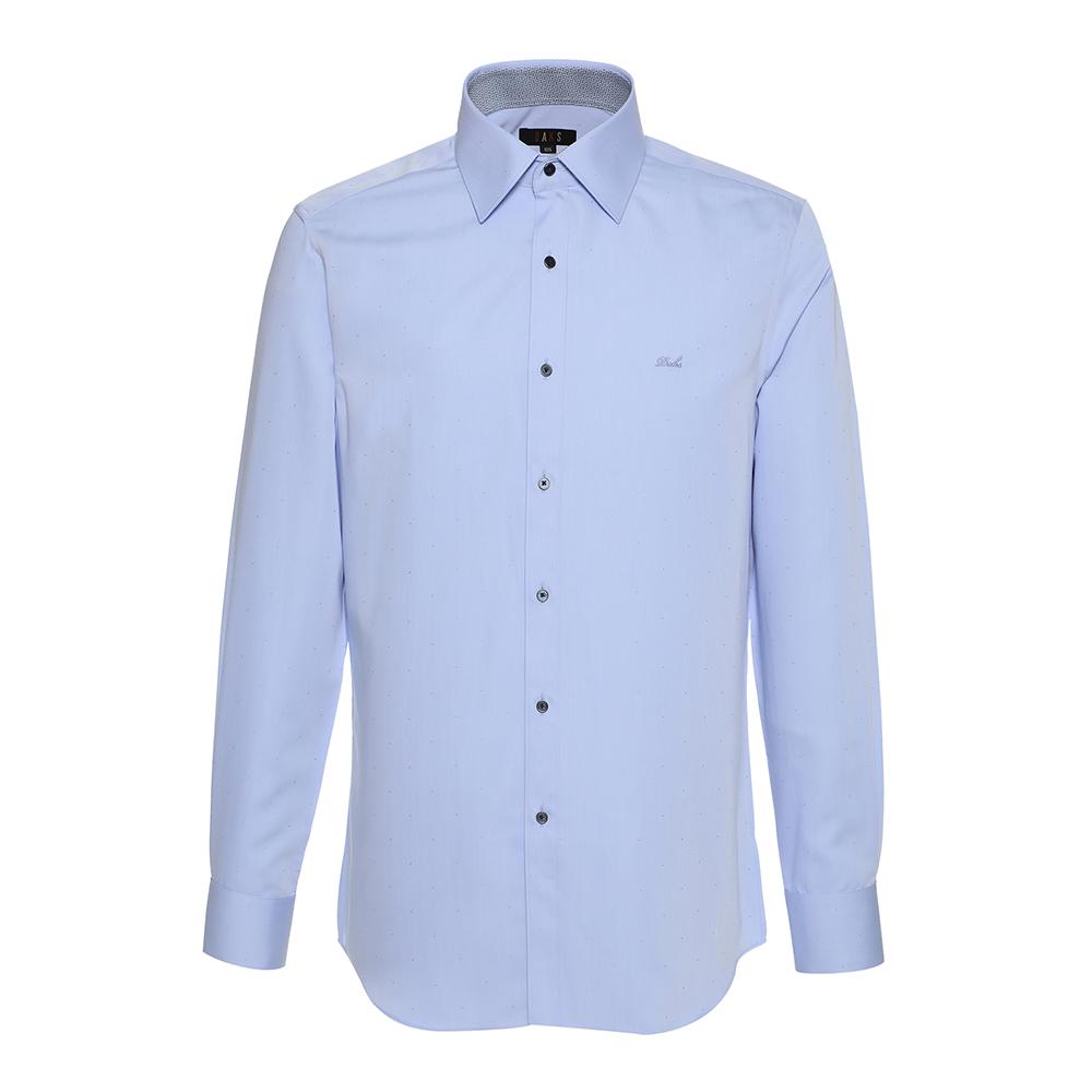 닥스 남성용 노케어 도비 자가드 커프스포인트 배색 와이셔츠 컨템포핏 PR DGF1SHDL210B1
