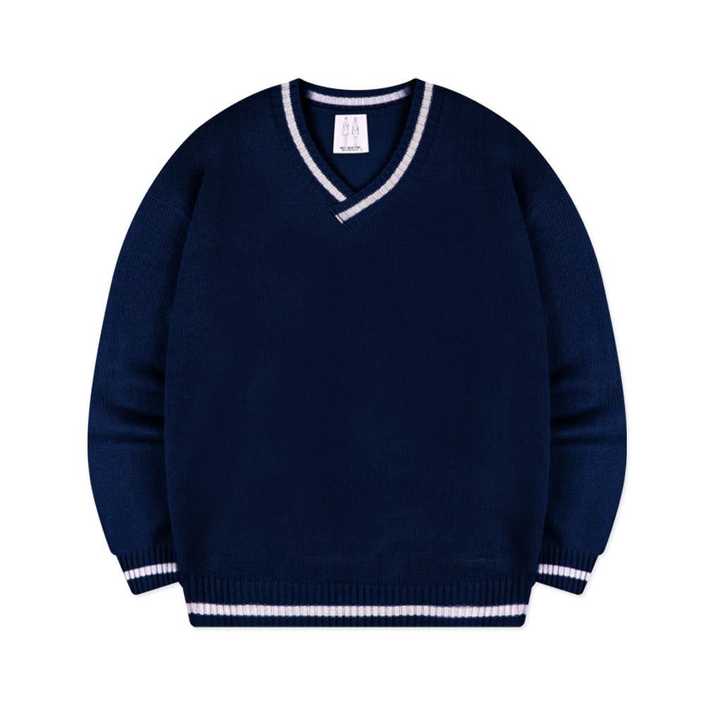 네스파 몽블레인 니트 브이넥 오버핏 티셔츠 SWH_0016