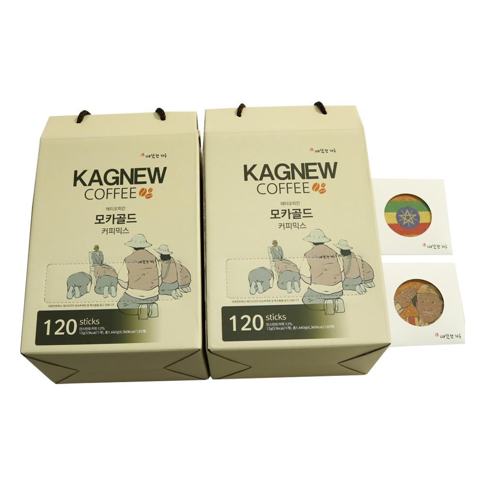 강뉴커피 에티오피안 모카골드 커피믹스, 12g, 240개