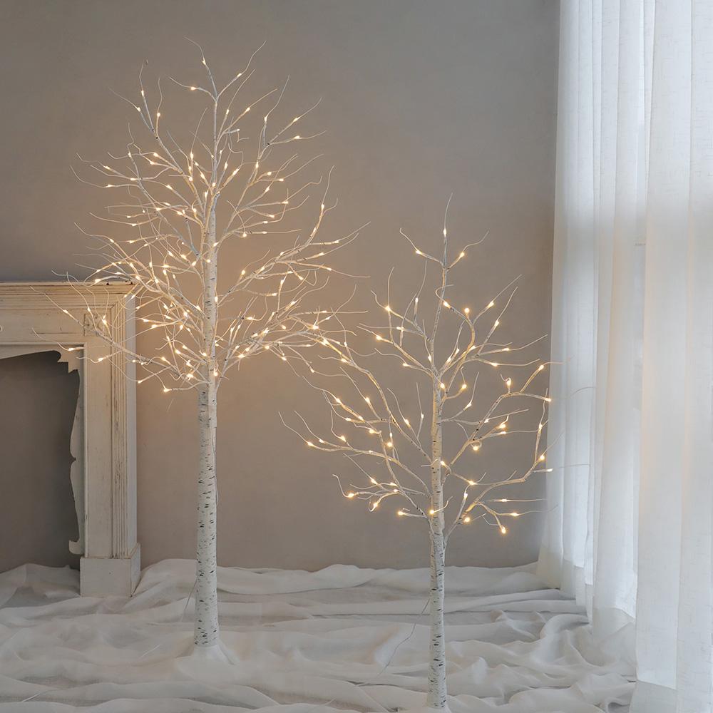 미스모네 브리치 자작나무 LED 무드등 5사이즈, 화이트