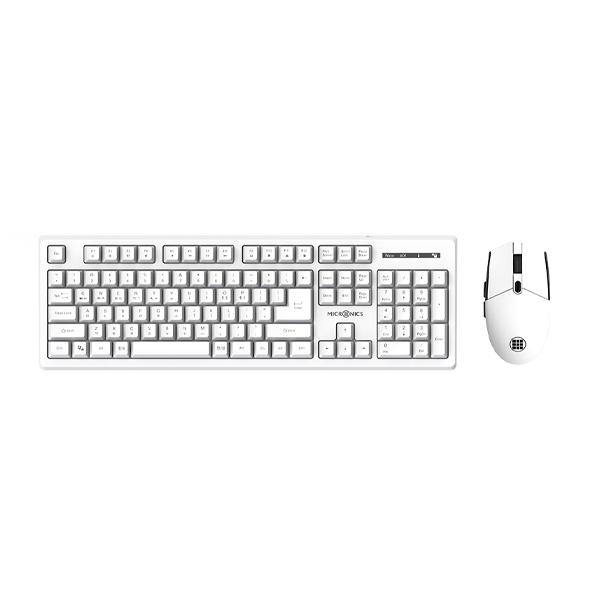 마이크로닉스 MANIC 무선 키보드 마우스 세트, 키보드(NX420), 마우스(NX420M), White