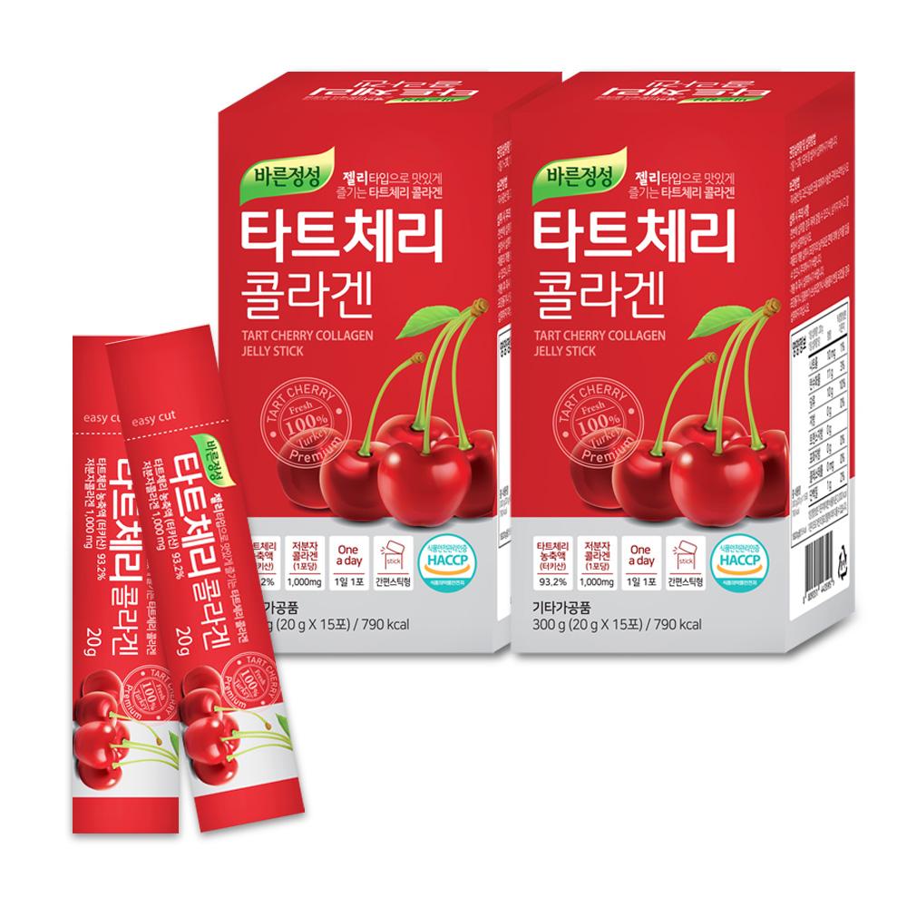 바른정성 타트체리 콜라겐 젤리스틱, 20g, 30개