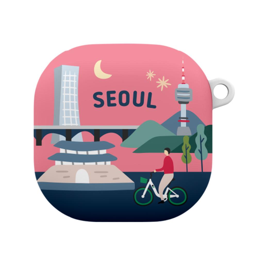 저스트포유 코리아 갤럭시 버즈라이브/버즈프로 케이스 + 키링, 단일상품, 서울