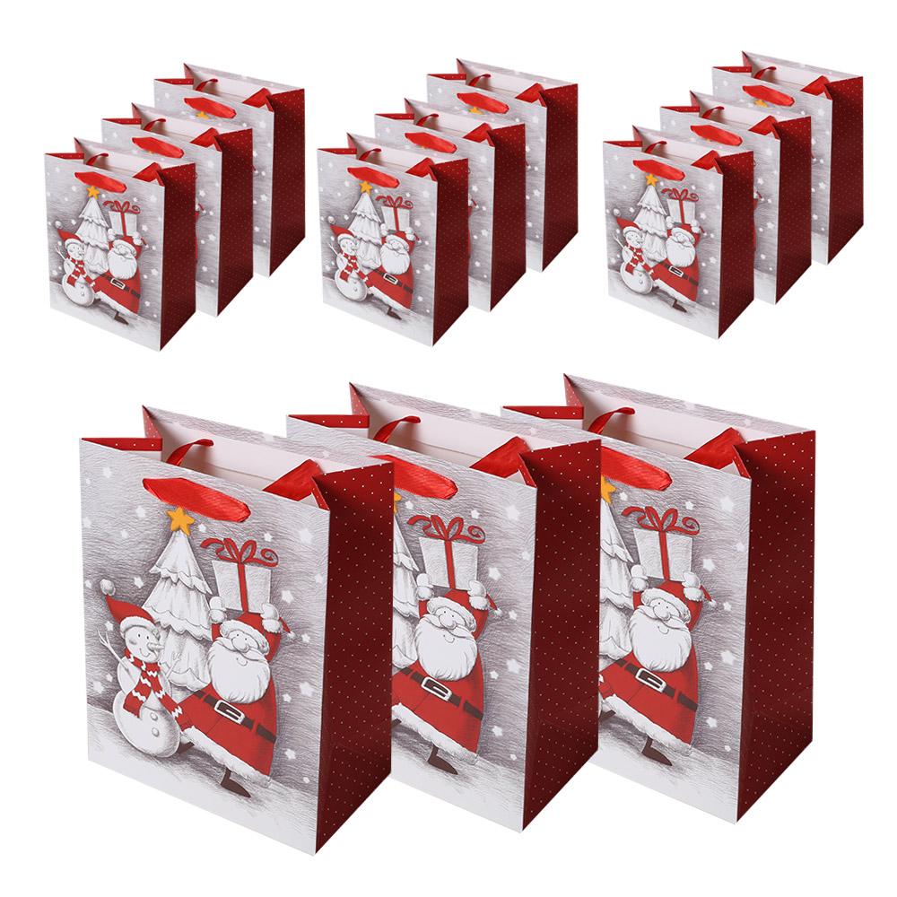 리드홈 크리스마스 선물 쇼핑백 12p, 산타스케치