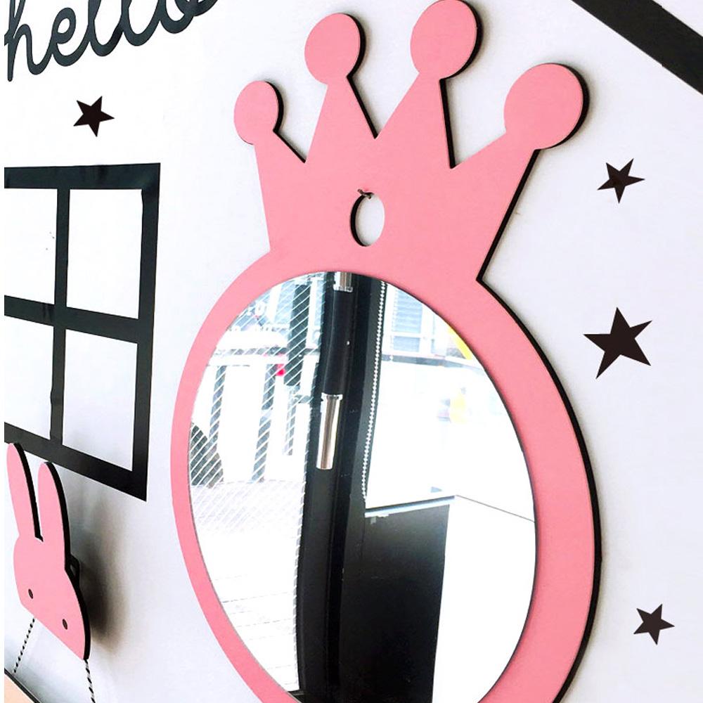 퍼니즈 프린세스 아이방 공주 아크릴 왕관 안전 거울, 핑크
