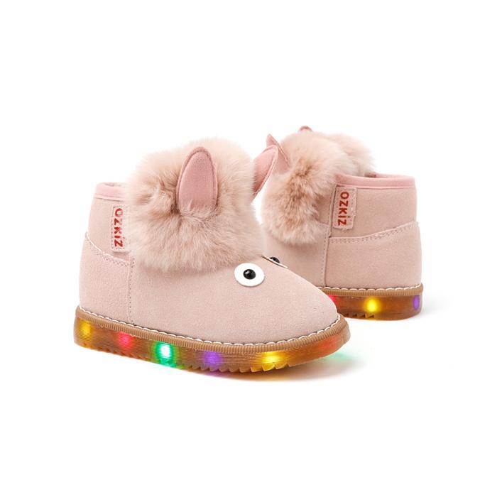 오즈키즈 유아동용 코니코니 LED 털부츠