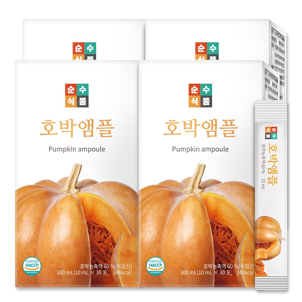 순수식품 유기농 늙은호박 앰플 스틱, 10ml, 120포