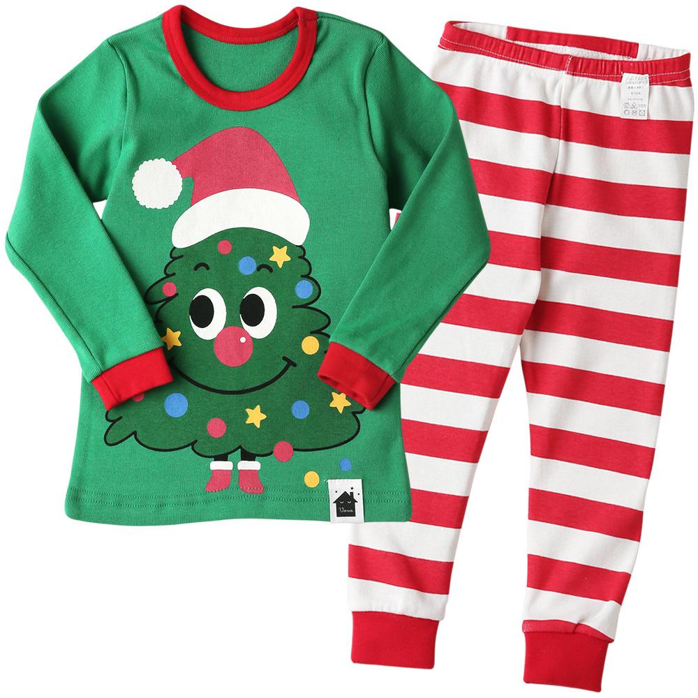 보보 아동용 트리요정 크리스마스 내의 상하세트