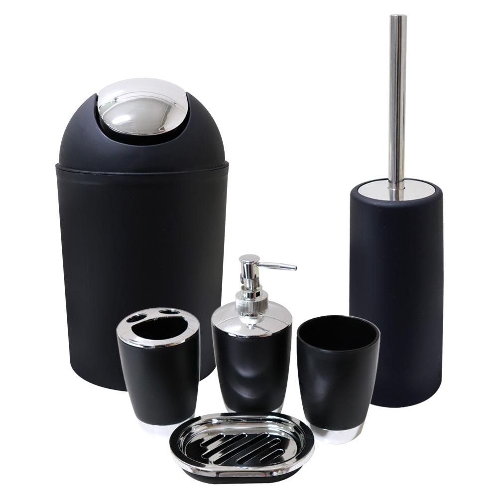 정리인홈 욕실 화장실 정리 용품 6종 세트 블랙