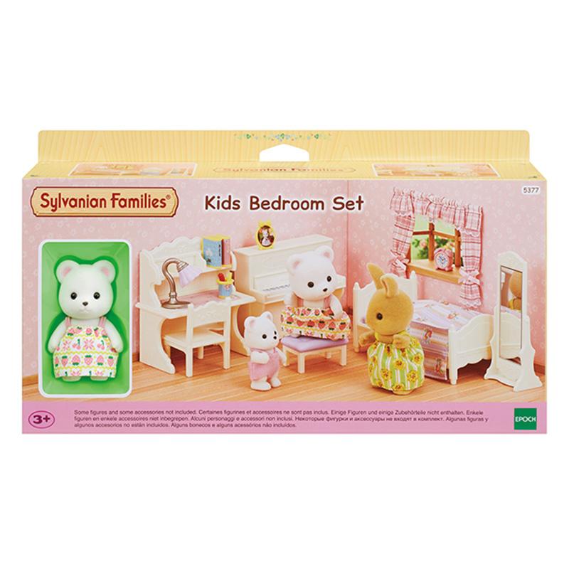 실바니안패밀리 북극곰 소녀의 키즈 룸 피규어 세트 5377, 1세트