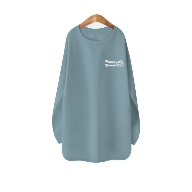블론디 여성용 치즈 기모 롱 티셔츠