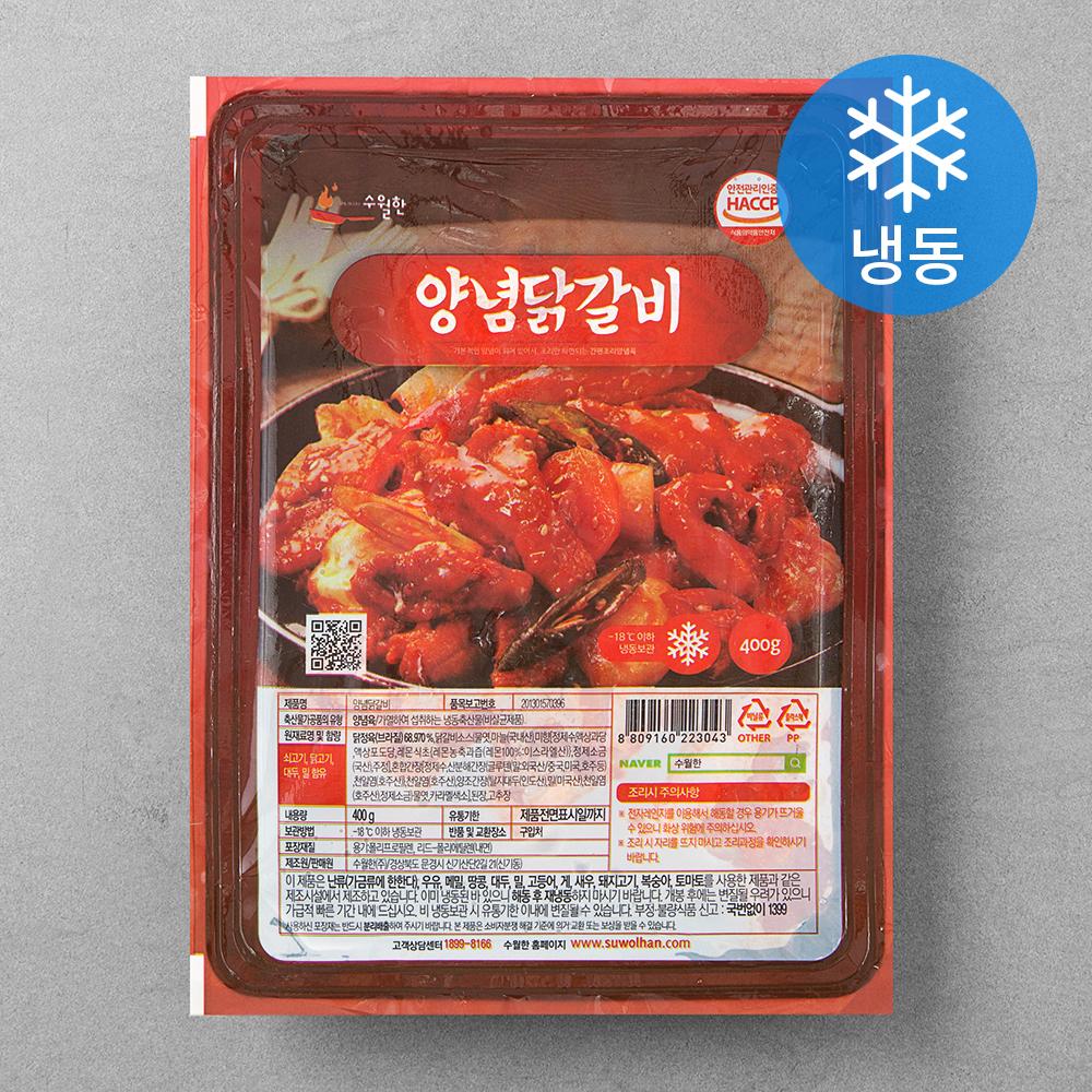 수월한 양념닭갈비 (냉동), 400g, 1개