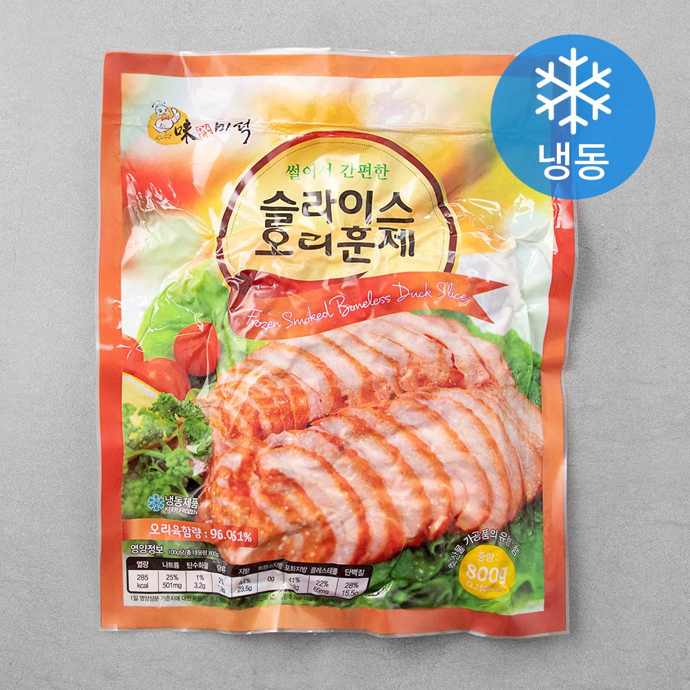 미덕 중국산 슬라이스 오리훈제 (냉동), 800g, 1개