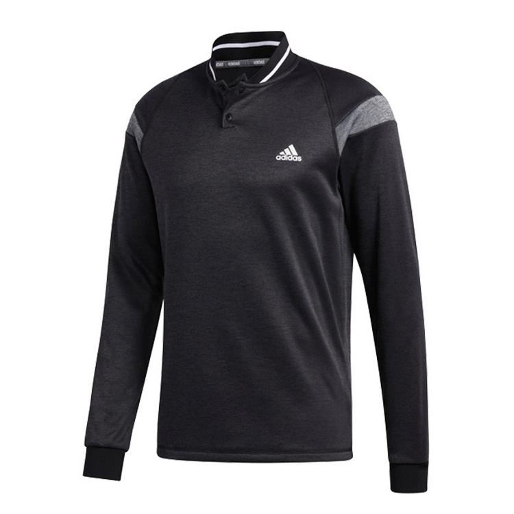 아디다스 남성용 웜 투버튼 긴팔 골프 티셔츠 FQ8476