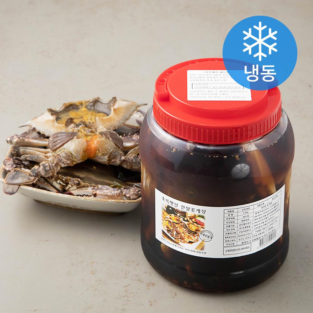 초록햇살 연평도 암꽃게 간장게장 (냉동), 3.2kg, 1개