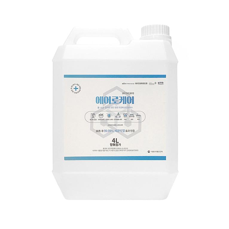 에어로케어 뿌리는 천연 살균소독수, 4L, 1개