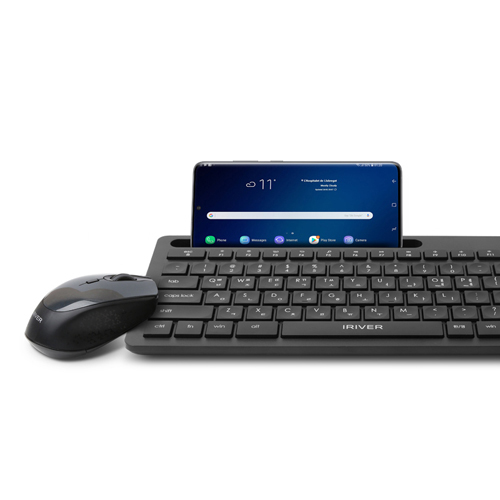 아이리버 저소음 무선 키보드 마우스 세트, Eqwear-V5000, 블랙