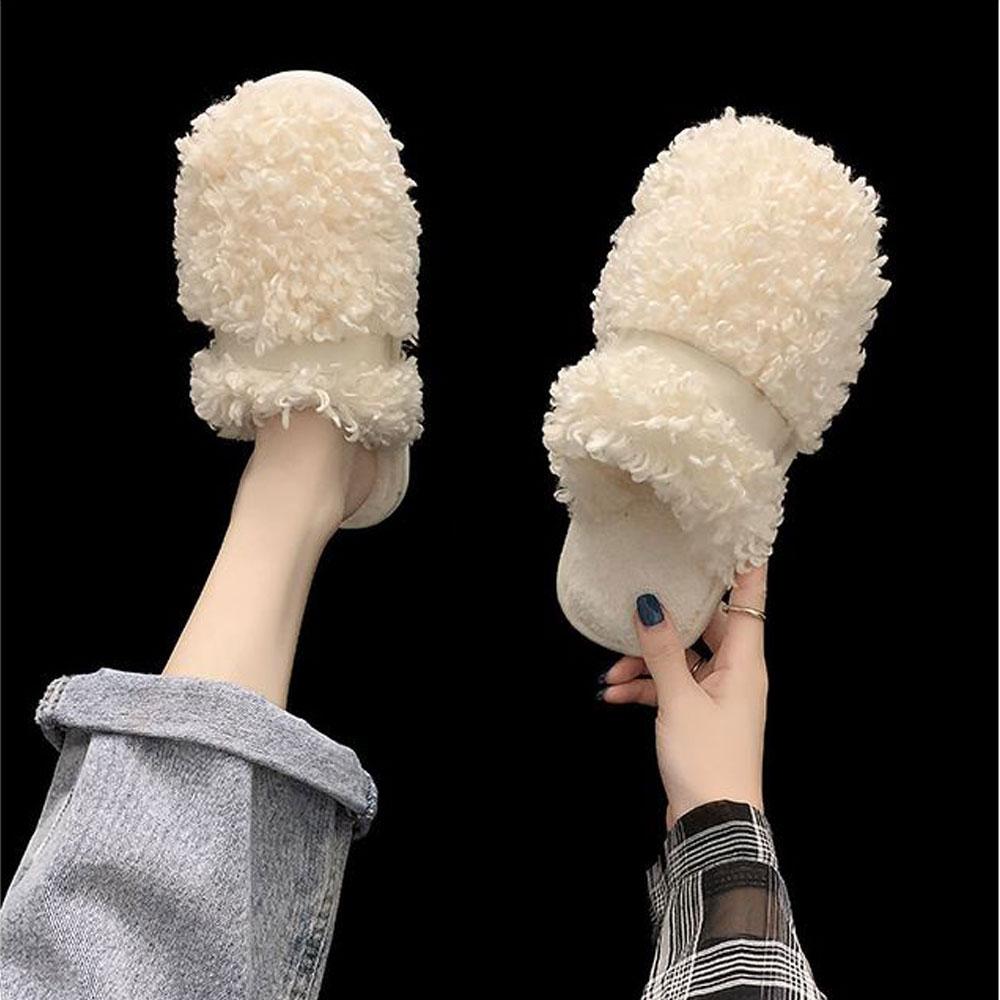 슈벨 여성용 띠로아 뽀글이 겨울 방한 털슬리퍼