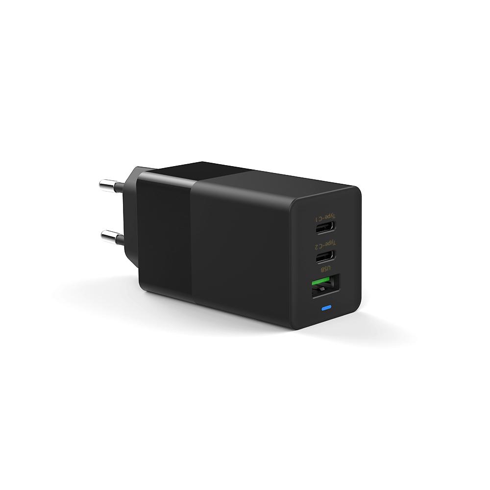 윈코 65W GaN 멀티 USB-PD 고속충전기, 블랙, 1개