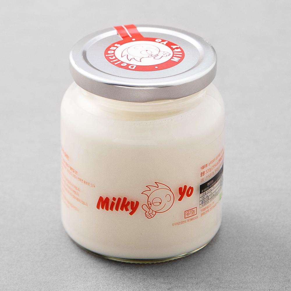 밀키요 유기가공식품 인증 그릭요거트 플레인, 320g, 1개