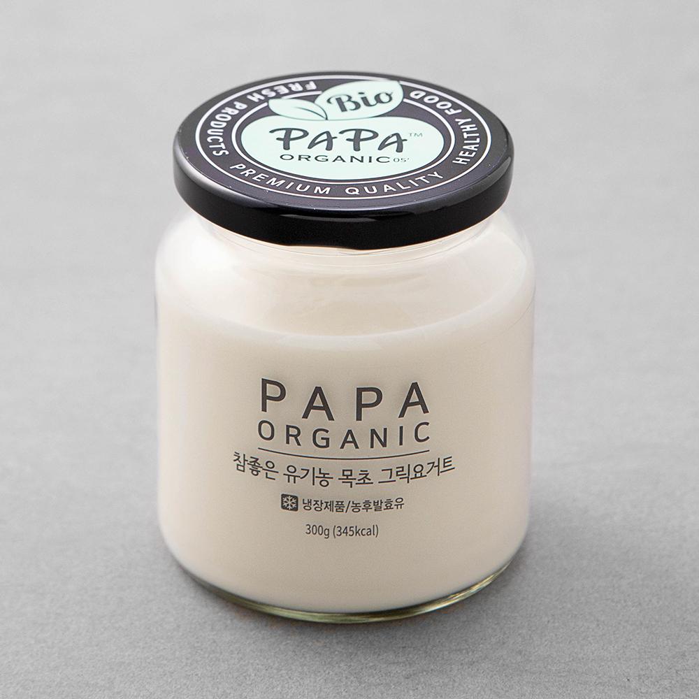 파파오가닉 유기가공식품 인증 참좋은 목초 그릭요거트 가당, 300g, 1개