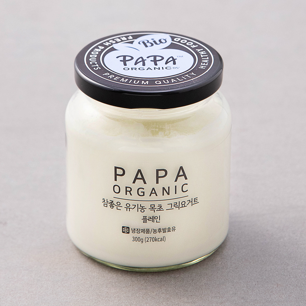 파파오가닉 유기가공식품 인증 참좋은 목초 그릭요거트 플레인, 300g, 1개