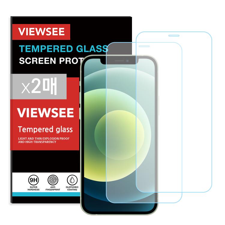 뷰씨 풀커버 투명 강화유리 휴대폰 액정보호필름 2p 세트, 1세트-3-2304090088