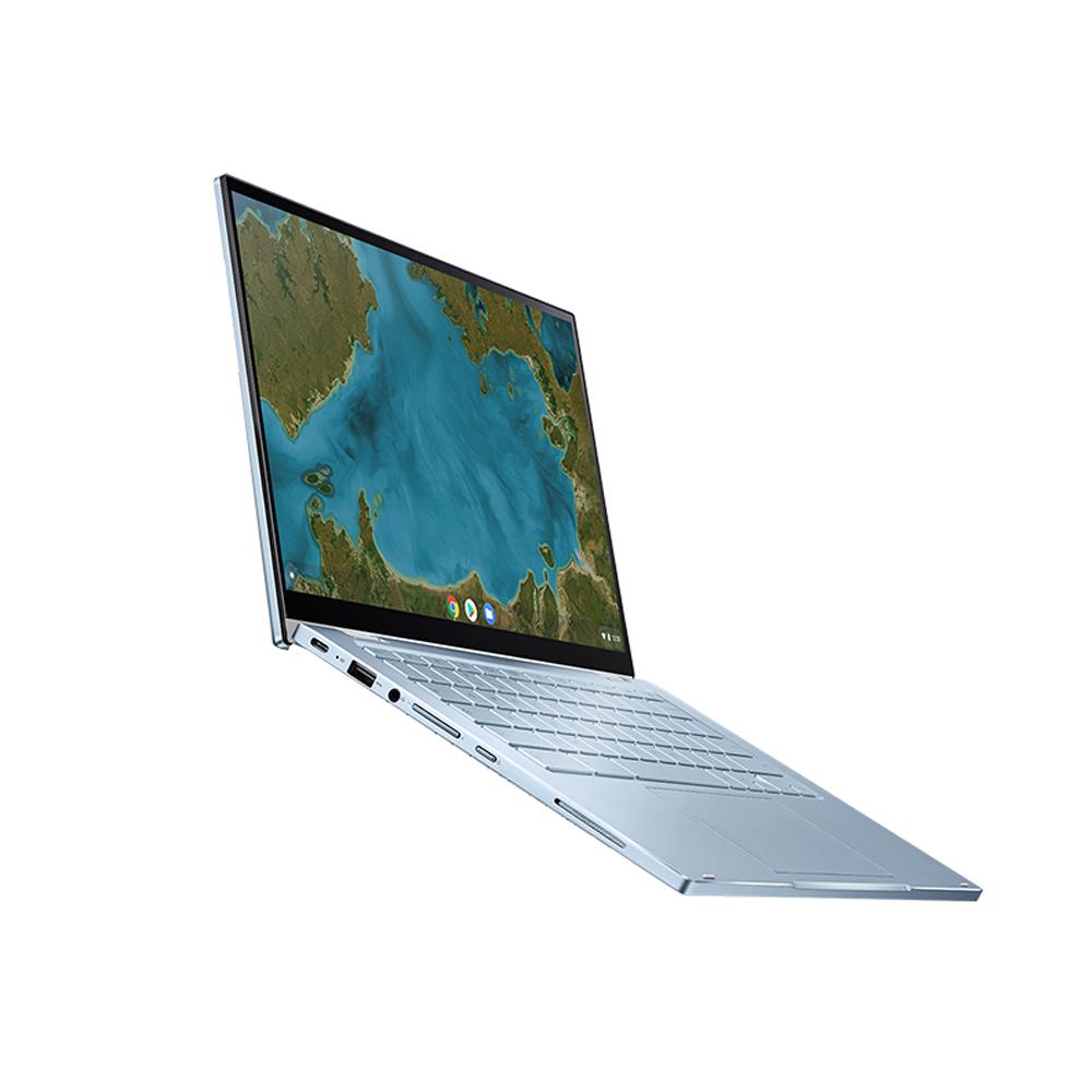 에이수스 크롬북 플립 실버 노트북 C433TA-AJ0133(m3-8100Y 35.56cm Chrome), Chrome OS, 64GB, 8GB