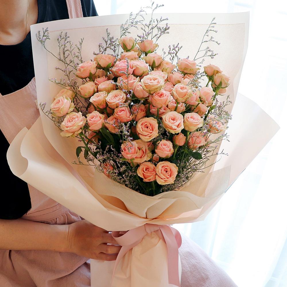 블뤼엔 생화 자나장미 꽃다발 100송이 L, 혼합색상