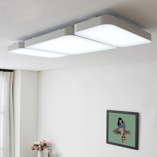 [LED 거실등] 조명에반하다 LED 심플 거실등 120W M121, 화이트 - 랭킹39위 (84900원)