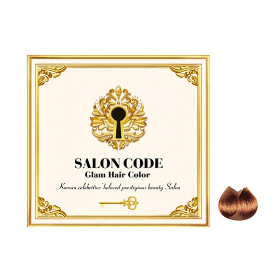 제니하우스 살롱 코드 글램 헤어 컬러 염색제, 브라운 자연갈색, 1개