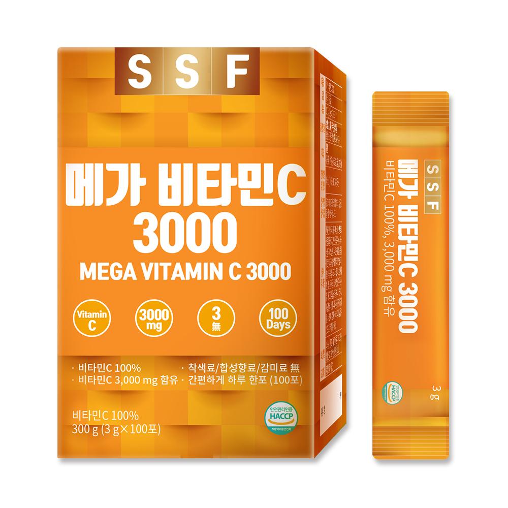 순수식품 비타민C 메가도스 가루 분말 스틱 파우더, 3g, 100개