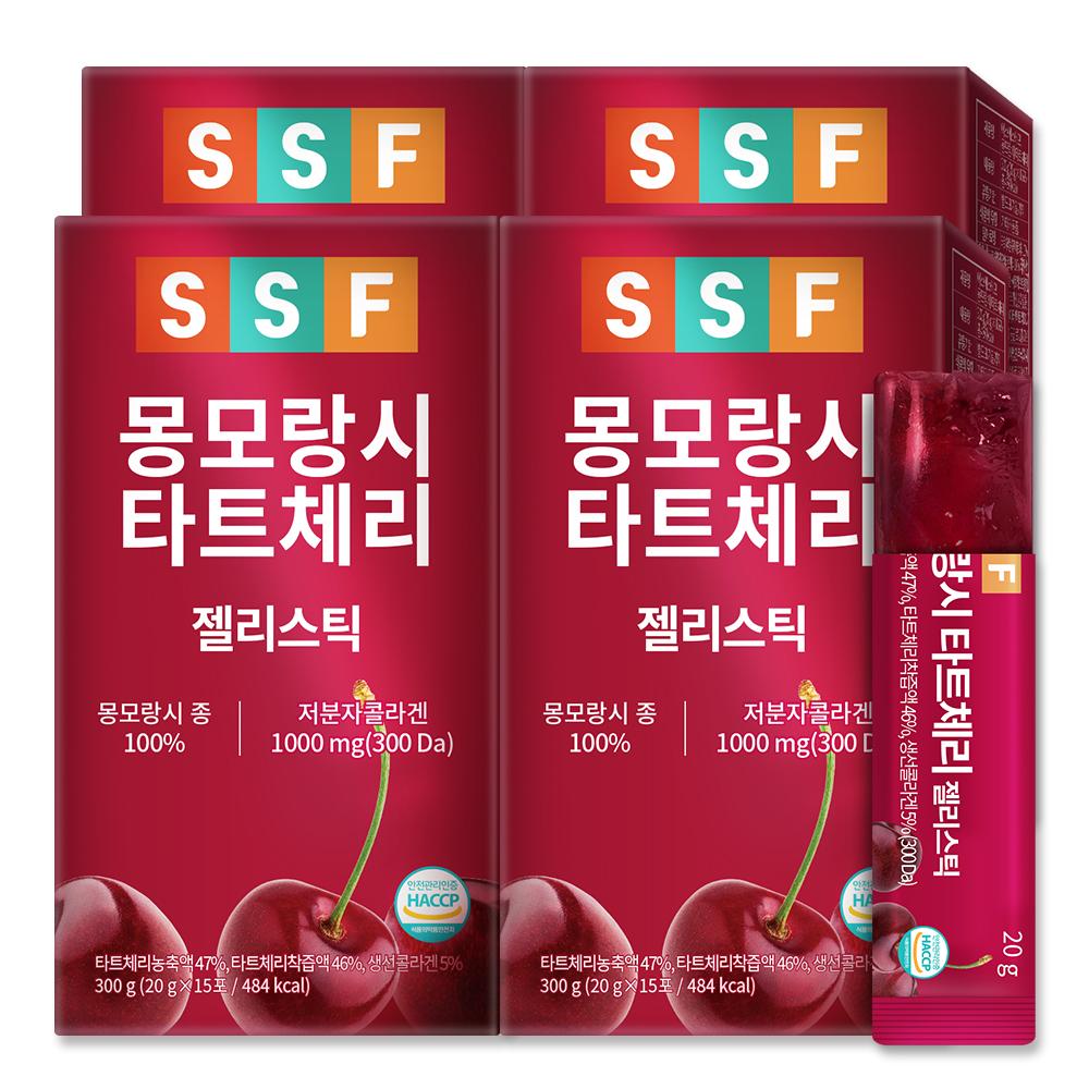 순수식품 몽모랑시 타트체리 콜라겐 젤리스틱, 20g, 60개