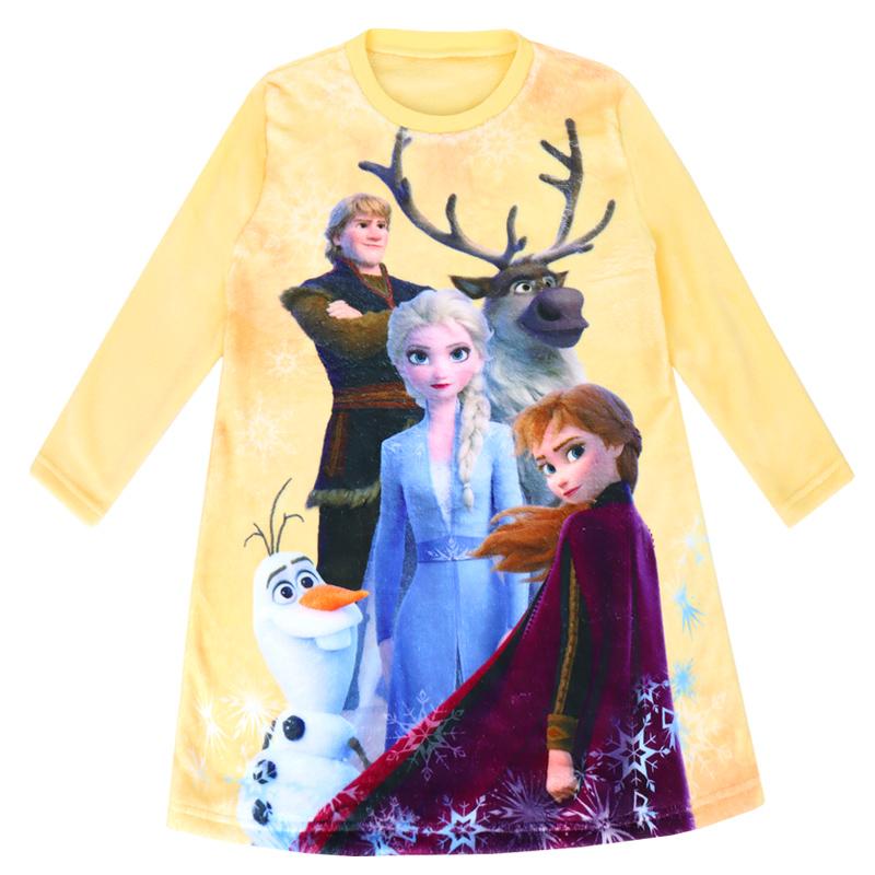 겨울왕국 2 여아용 네리 9부 수면 원피스 잠옷