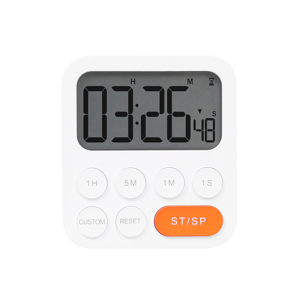 무아스 원클릭 쿠킹 타이머 시계, 화이트, 1개