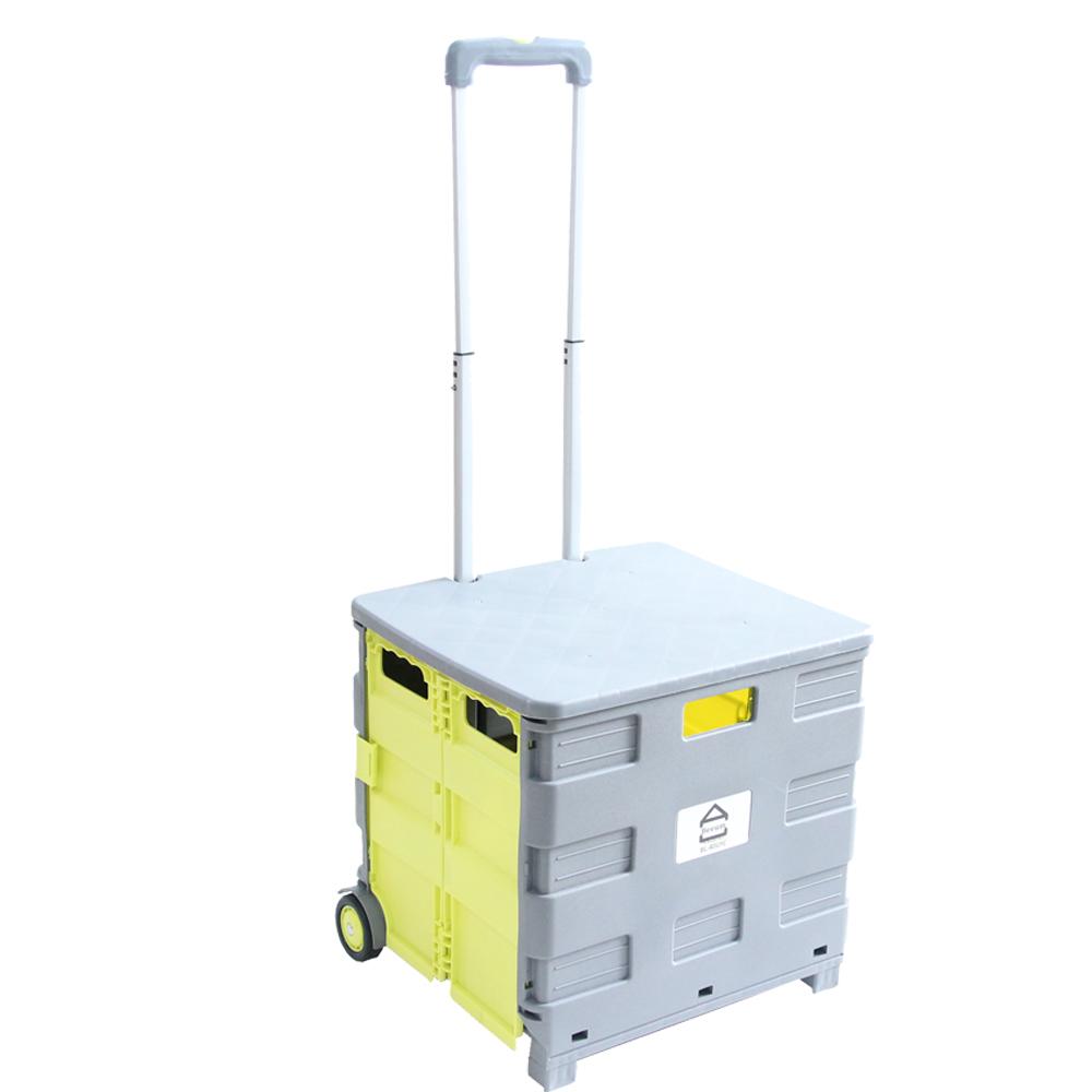 비움 접이식 핸드 쇼핑카트 65L 40kg + 커버 세트 BL-40GYC
