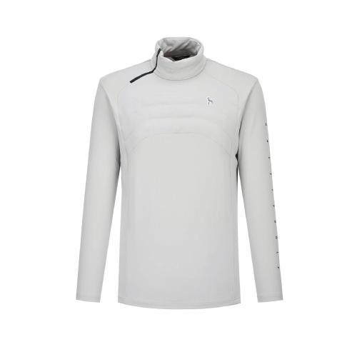 헤지스 남성용 골프 경량 패딩 충전재 반집업 티셔츠 HUTS0D791G1