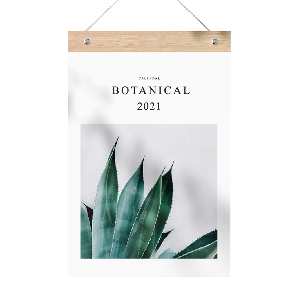 퍼니즈 2021년 식물 몬스테라 벽걸이 캘린더, 보테니컬