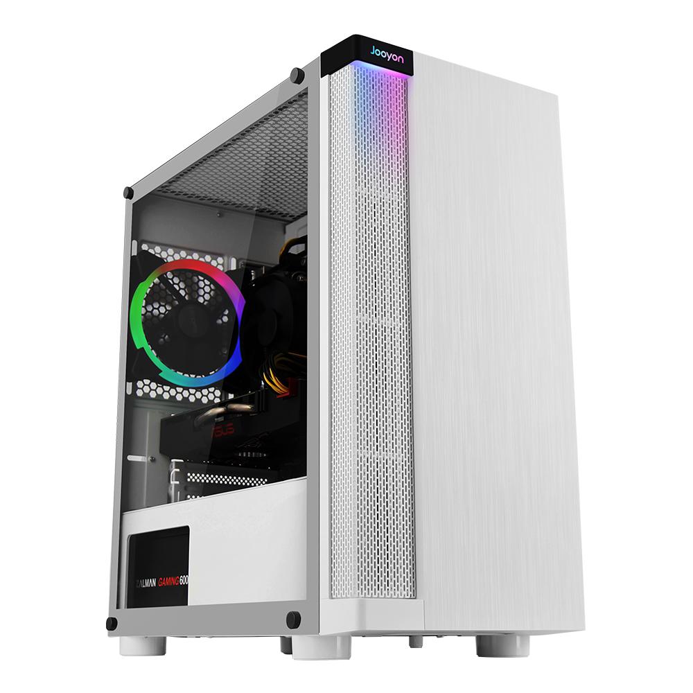 주연테크 게이밍 데스크탑 PC 화이트 TINY-14F6S (i5-10400F), FreeDOS(미포함)