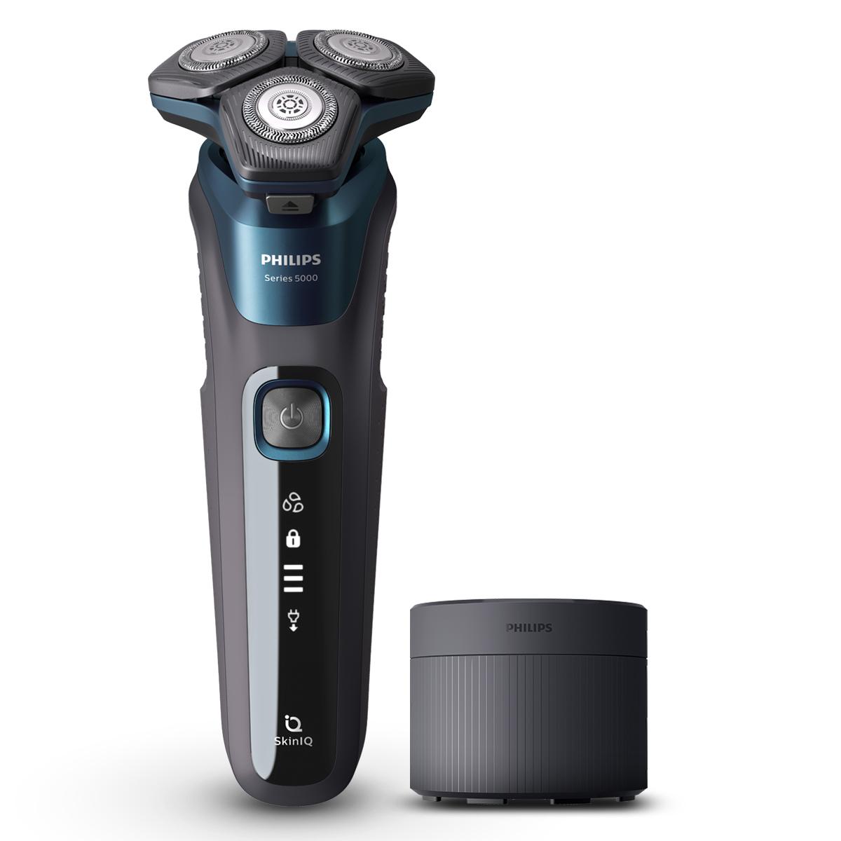 필립스 전기면도기 SkinIQ 5000, S5579/60, 일렉트릭 블루