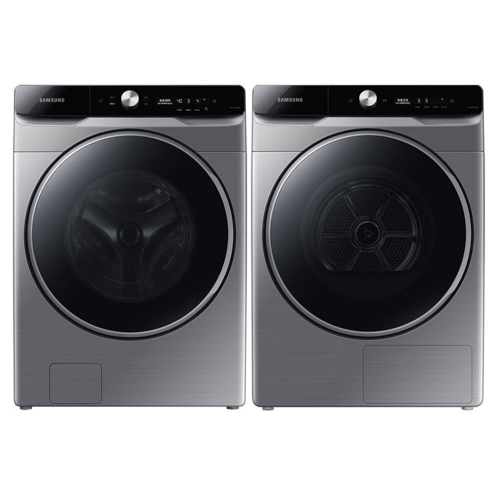 삼성전자 올인원 컨트롤 그랑데 AI 드럼세탁기 WF23T9500KP 23kg + 건조기 DV16T9720SP 16kg 방문설치, WF23T9500KP6