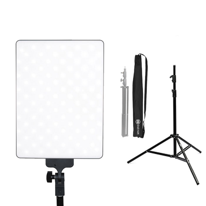 대한 1인 방송용 LED 라이트탭 반영구 조명 + 고급 삼각대 BAG-8021 + 케이스, DH-TAB2030, 1세트