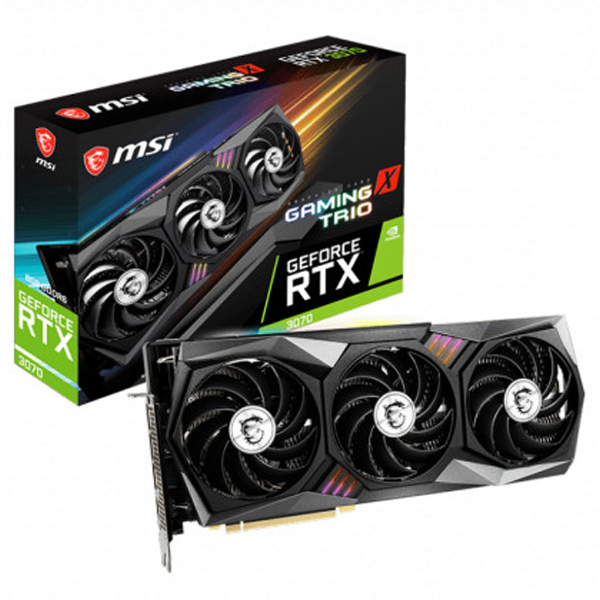 MSI 지포스 RTX 3070 게이밍 X 트리오 D6 8GB 트라이프로져2 그래픽카드, 단일상품