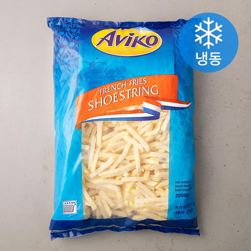 아비코 슈스트링 감자튀김 7mm (냉동), 2kg, 1개