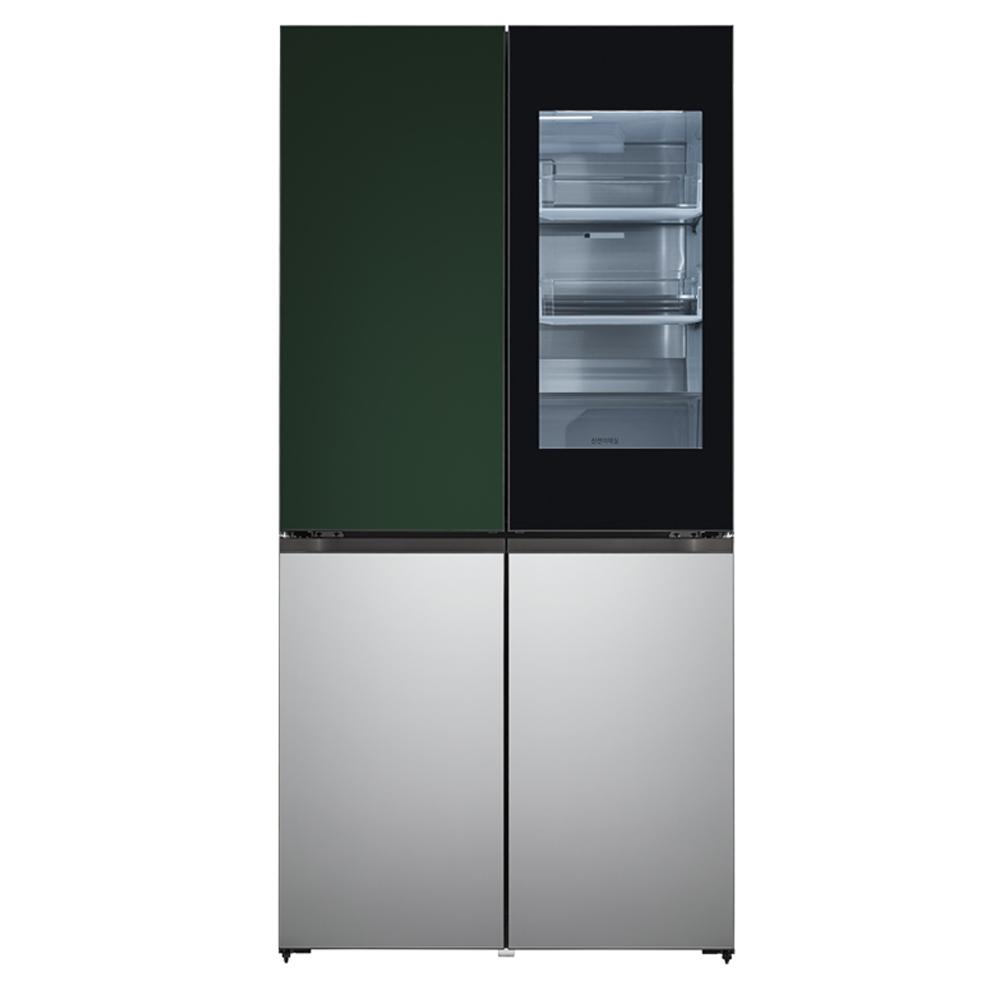 LG전자 LG오브제컬렉션 양문형 냉장고 그린 실버 M620SGS351 613L 방문설치