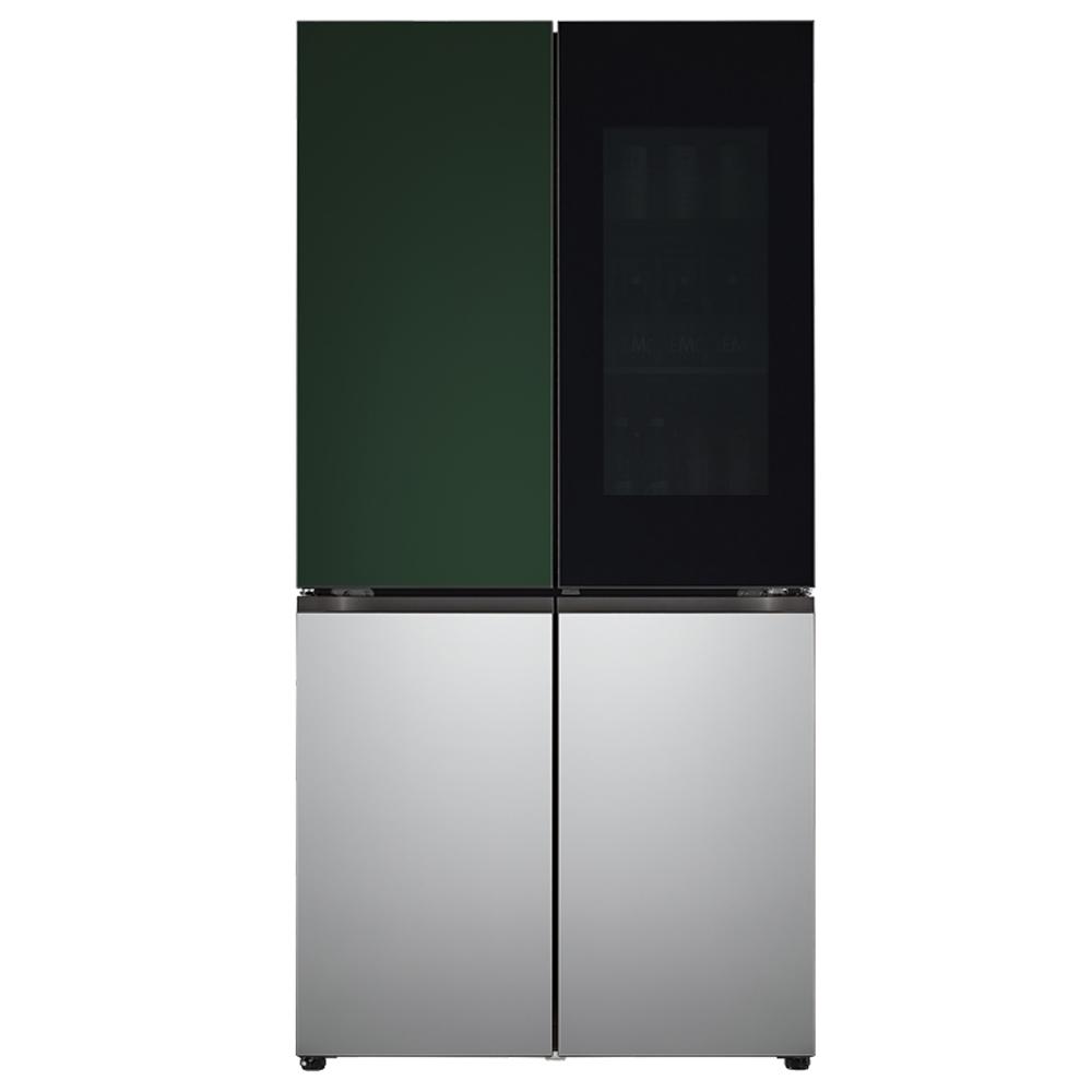 LG전자 LG오브제컬렉션 노크온 양문형 냉장고 그린 실버 M870SGS451 870L 방문설치