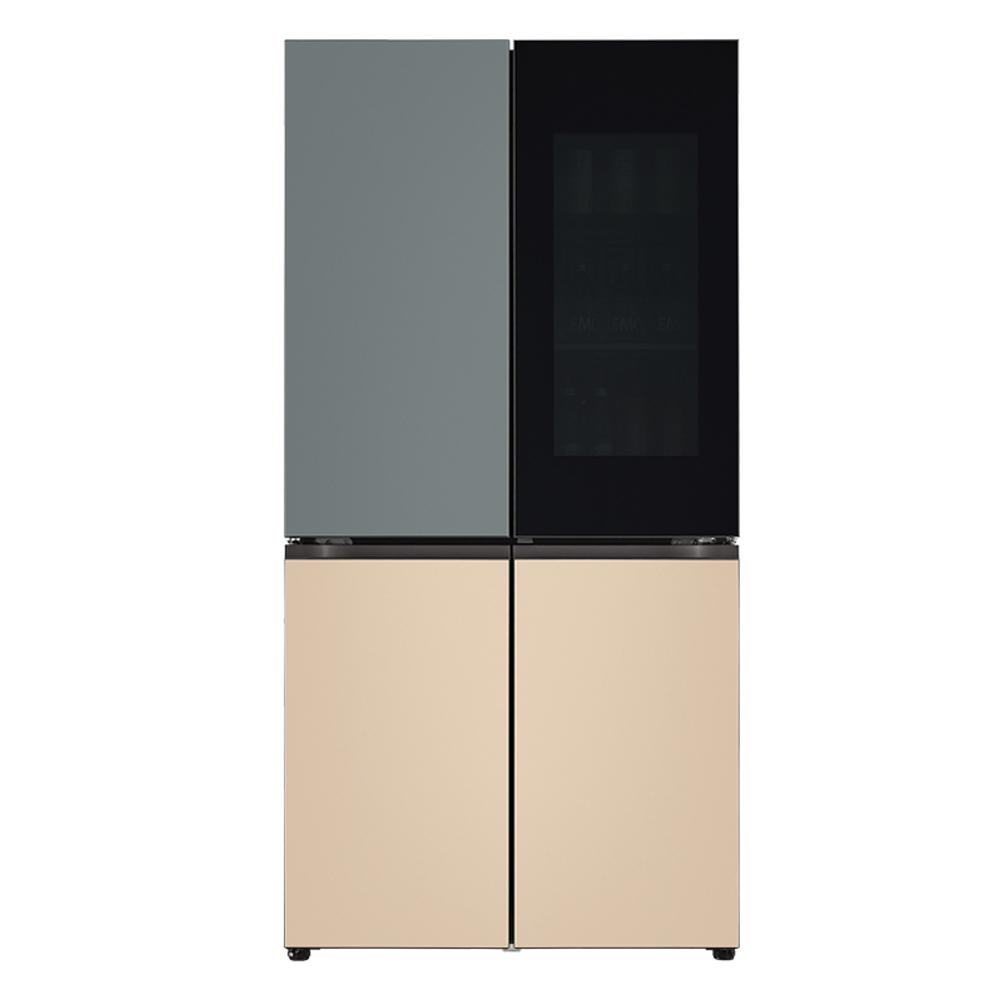 LG전자 LG오브제컬렉션 노크온 양문형 냉장고 보타닉 샌드 M870FBS451 870L 방문설치