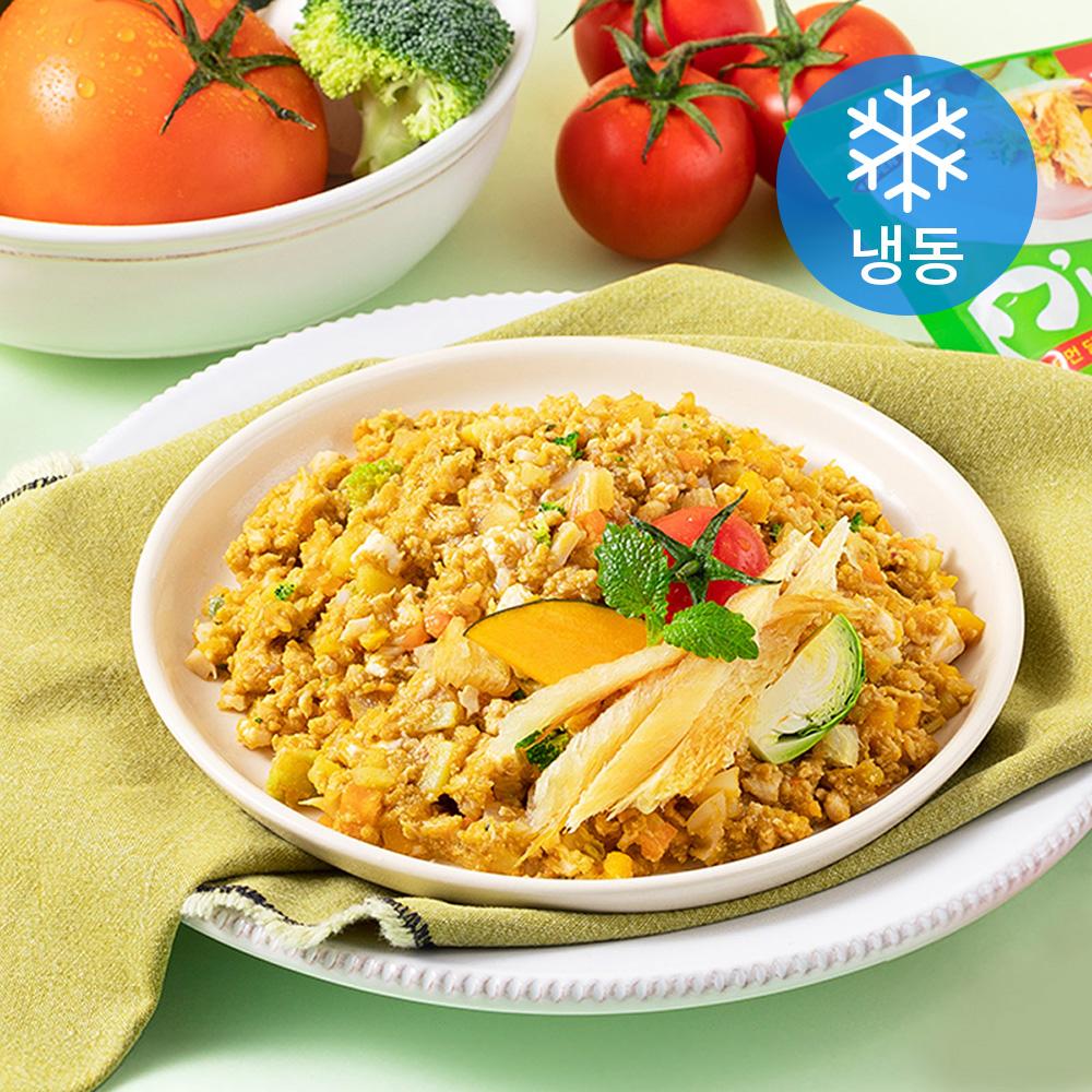 듀먼 닭가슴살 앤 토마토 튼튼체력 강아지 자연화식 7p (냉동), 닭, 100g
