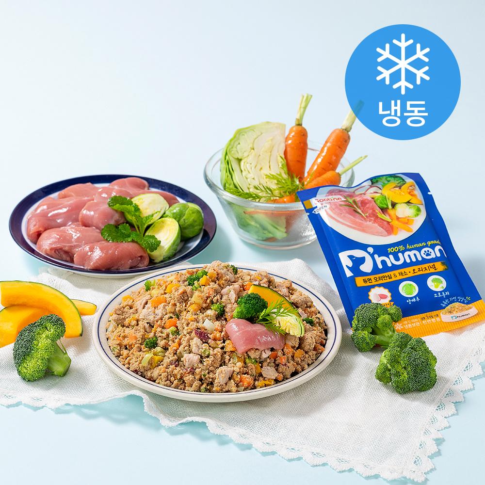 듀먼 오리안심 앤 채소 오리지널 강아지 자연화식 7p (냉동), 오리, 100g