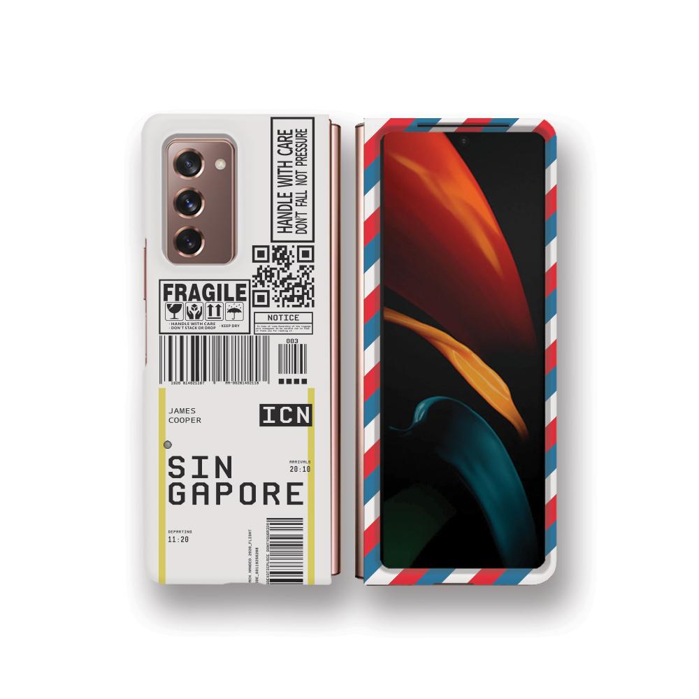 에어플레인 티켓 슬림 하드 휴대폰 케이스